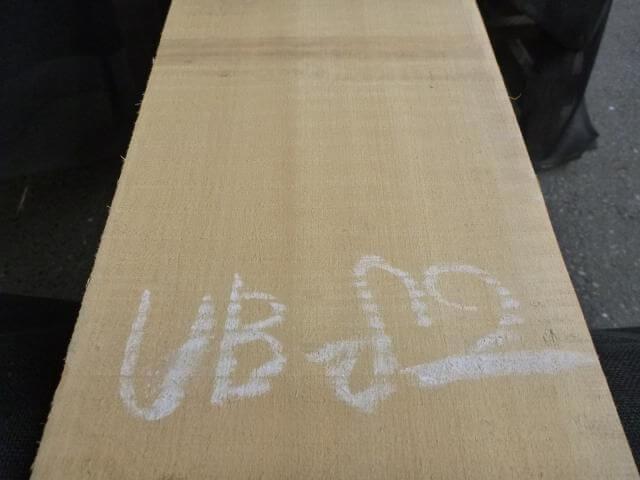 バスウッド 片耳付き 柾目 UB-82