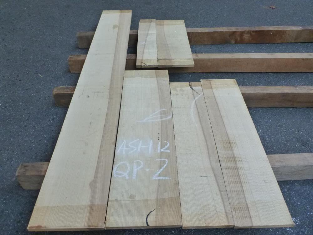 アッシュ 12ミリ 薄板 柾目 自家工場製材板
