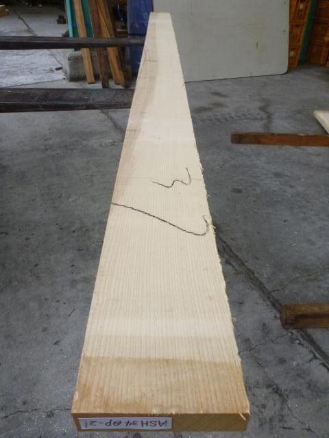 アッシュ 34ミリ 柾目 自家工場製材品