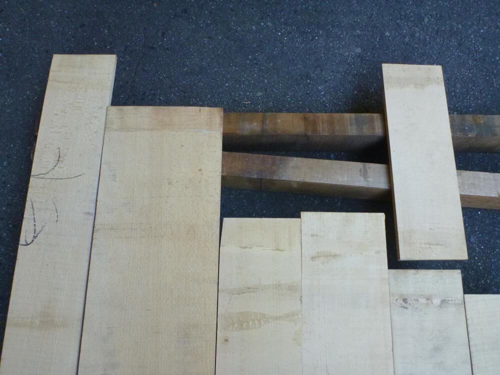ブナ 12ミリ 薄板 柾目 自家工場製材