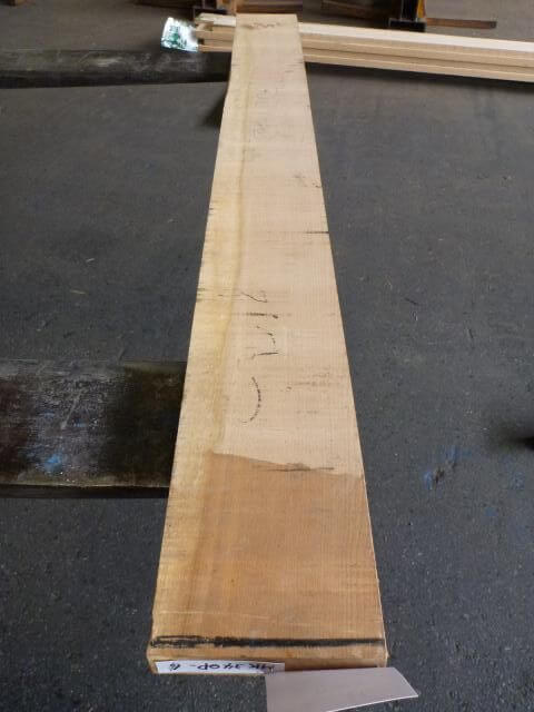 マカバ 34ミリ ラフ材 平板 柾目