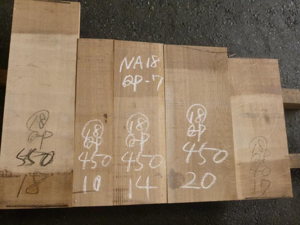 ナラ 18ミリ 薄板 柾目 自家工場製材