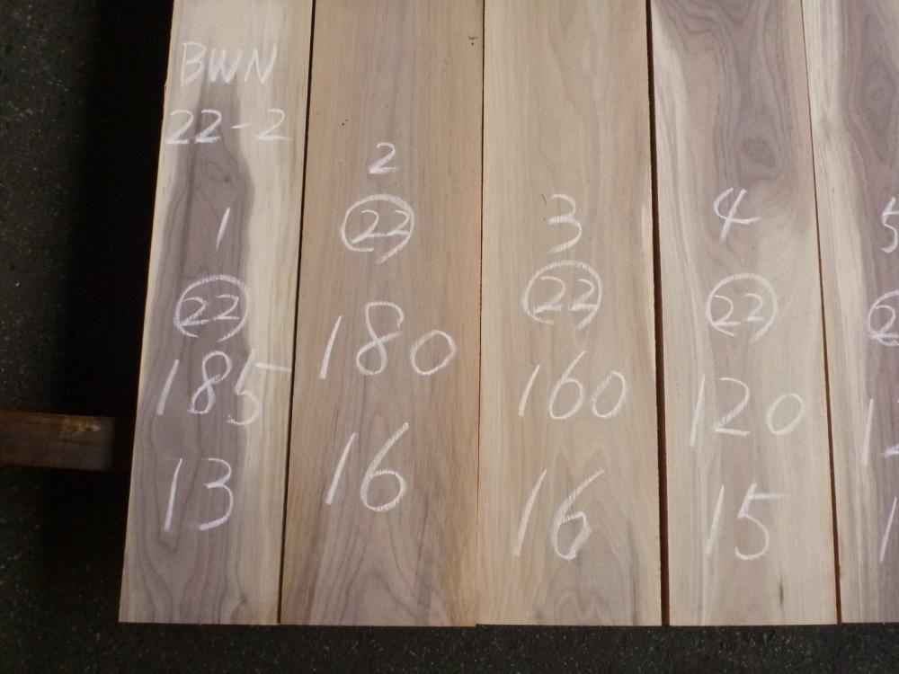 ウォールナット 22ミリ 薄板 プレナ仕上げ