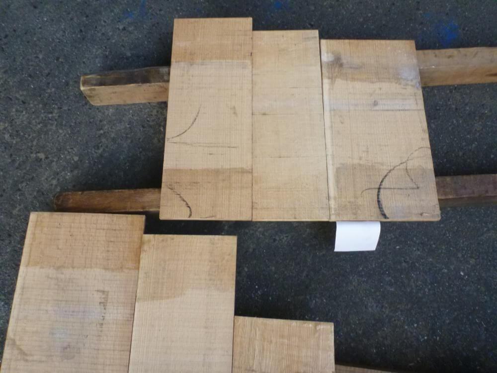 ノーザン・レッドオーク 12mm 柾目 自家工場製材