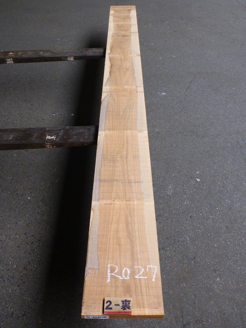 ノーザン・レッドオーク 27mm 板目 自家工場製材
