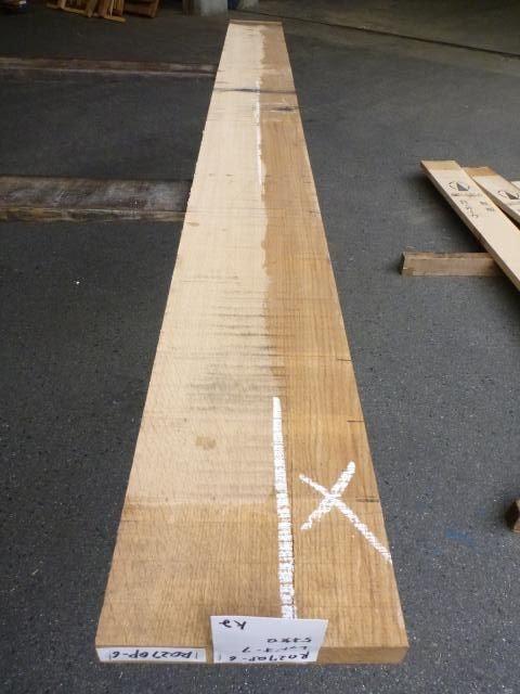 ノーザン・レッドオーク 27mm 柾目 自家工場製材