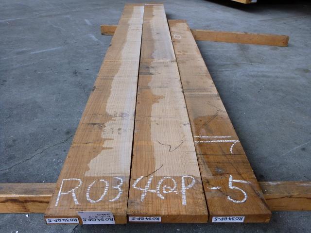 ノーザン・レッドオーク 34mm 柾目 自家工場製材