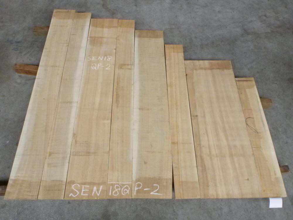 セン 18ミリ 柾目板 SEN18QP-2