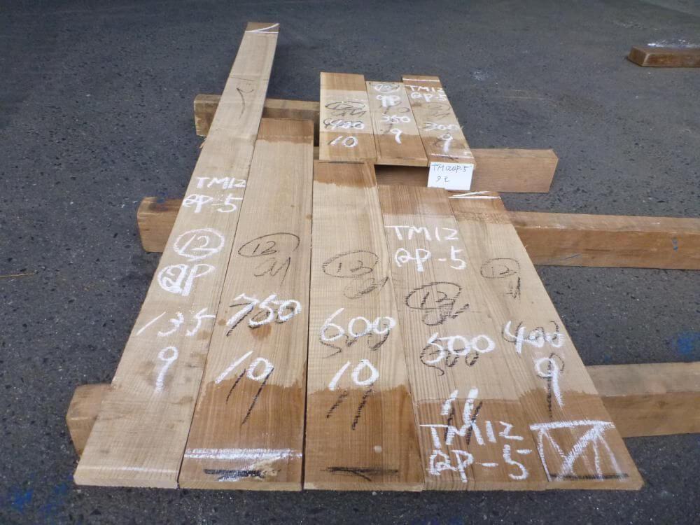 タモ 12ミリ 柾目板 自家工場製材