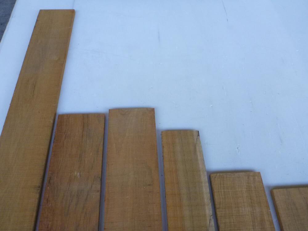 チーク 12ミリ 柾目