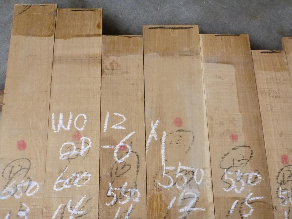 ホワイトオーク 12ミリ 柾目 自家工場製材