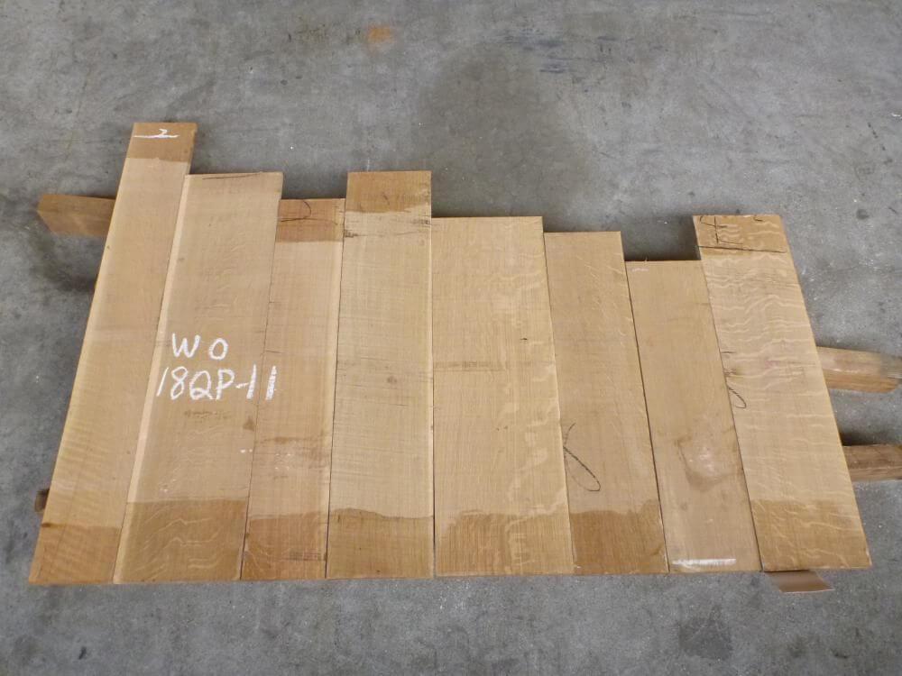 ホワイトオーク 18ミリ 柾目 自家工場製材