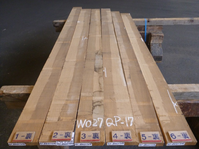 ホワイトオーク 27mm 柾目板 国内挽き