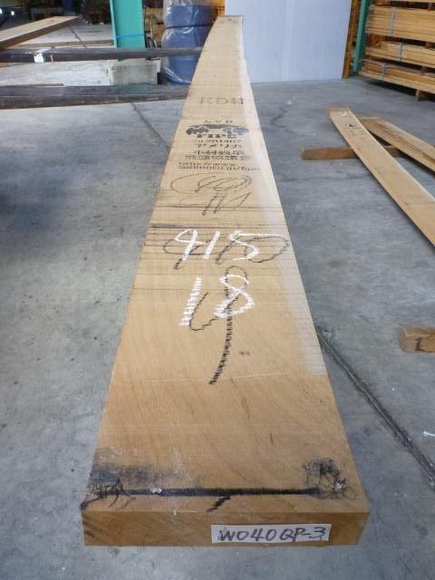 ホワイトオーク 40mm 柾目板 国内挽き