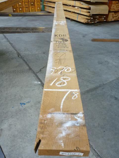ホワイトオーク 51mm 柾目板 国内挽き