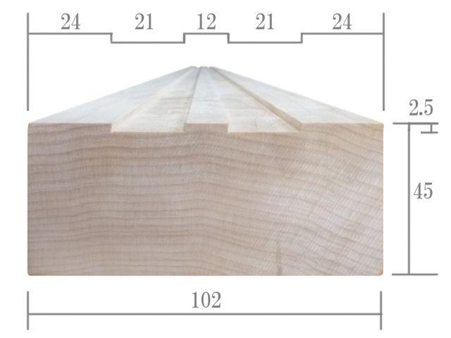 基本サイズ断面寸法図
