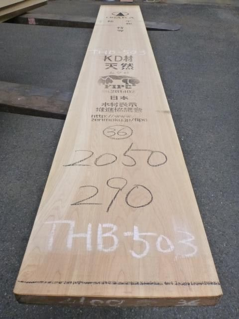 岐阜県産ヒノキ 一枚板・厚盤 THB-503