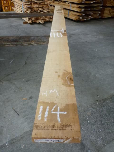 ハードメープル柾目板 国内挽き HM-114