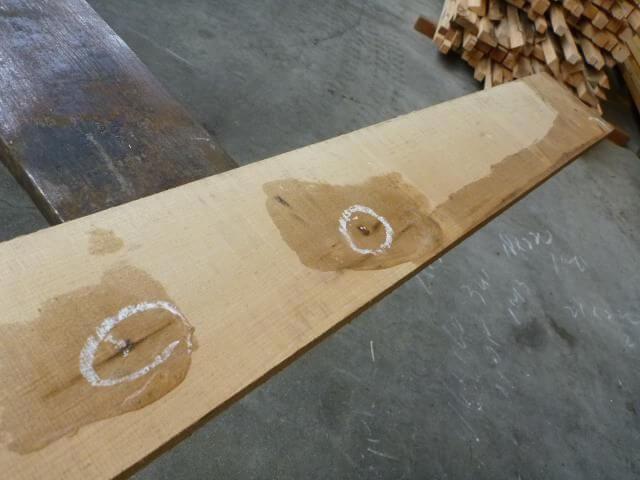 ハードメープル柾目板 国内挽き HM-108