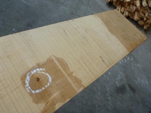 ハードメープル柾目板 国内挽き HM-118
