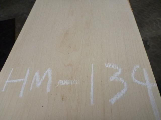 ハードメープル柾目板 国内挽き HM-134