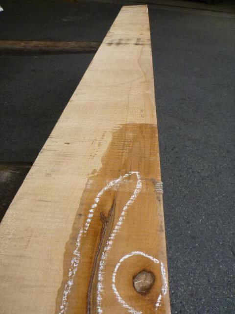 ハードメープル 柾目板 上がり框むき 国内挽き HM-165