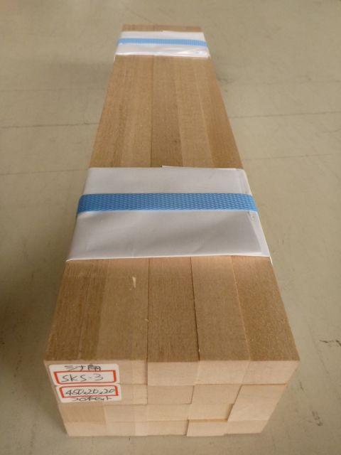 シナ角材 S4S仕上げ 20本セット SKS-3