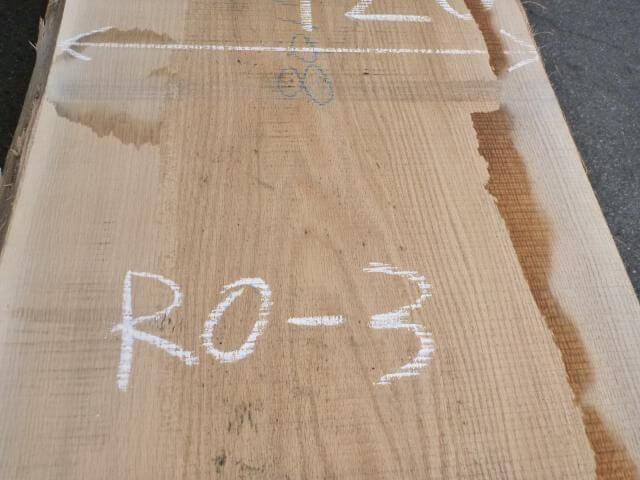 レッドオーク 片耳付き板目 RO-3