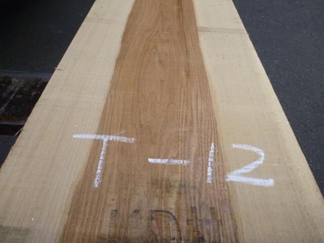 タモ 耳断ち板目 一枚板 T-12