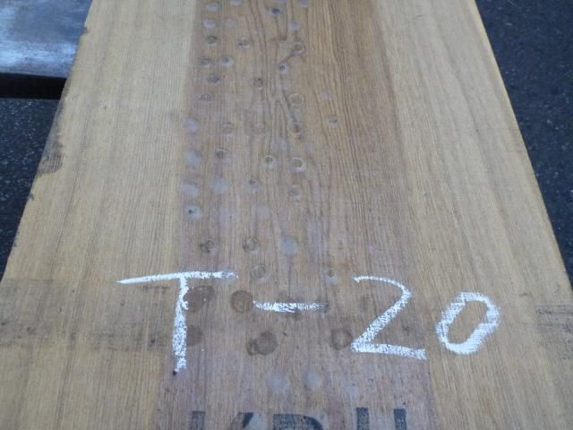 タモ 耳断ち板目 一枚板 T-20