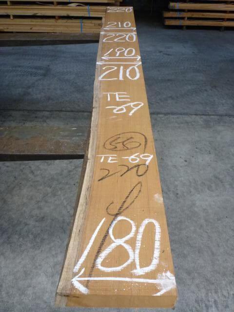 チ-ク 片耳付き 柾目板 TE-69