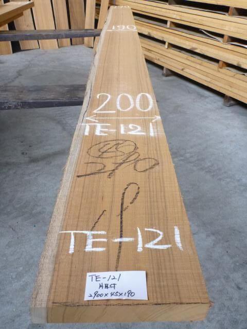 チ-ク 片耳付き 柾目板 TE-121