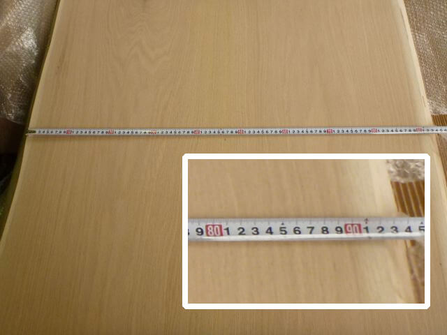 レッドオーク 両耳付き 2枚組販売 TBRO-1・TBRO-2 - 2枚剥ぎ加工 仕上がり画像