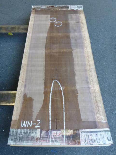 ブラック ウォールナット 片耳付き板 WN-1