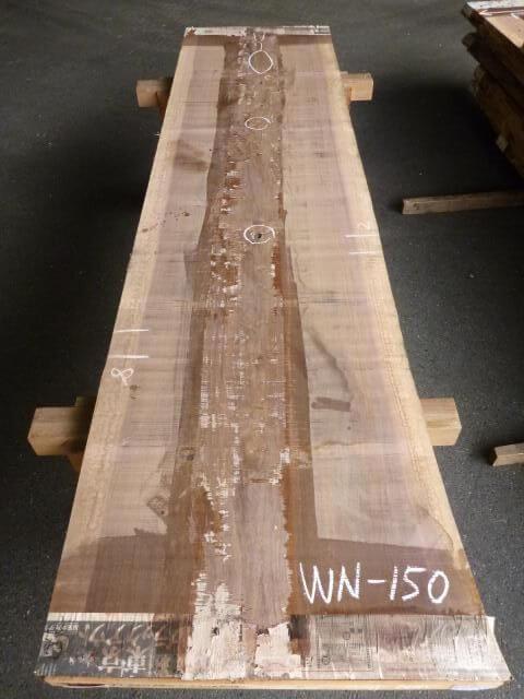 ブラック ウォールナット 片耳付き板 WN-150