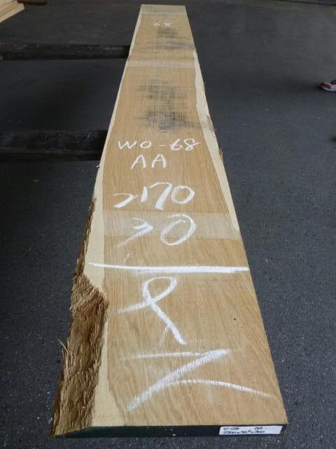 ホワイトオーク 現地挽き サンダ仕上げ 板目 WO-68