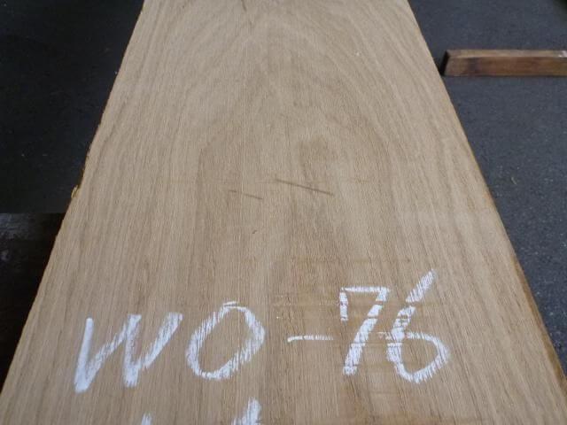 ホワイトオーク 国内挽き 板目 WO-76