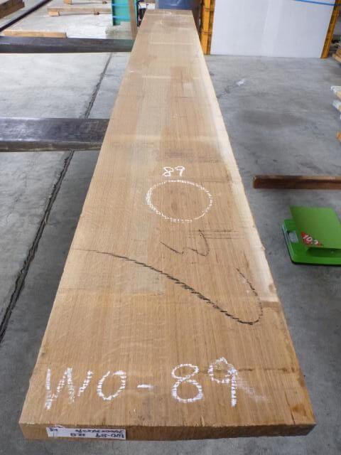 ホワイトオーク国内挽き 柾目 WO-89