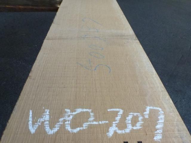 ホワイトオーク  国内挽き柾目 WO-207