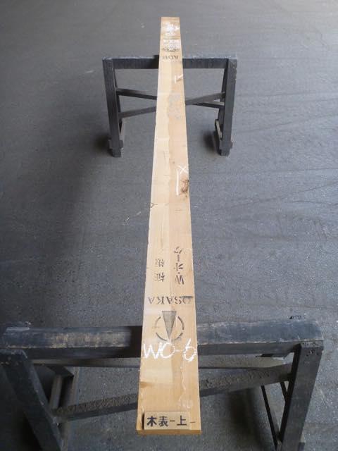 ホワイトオーク板 国内挽き 両耳付き板目 WO-6